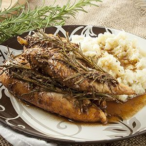 PSMF Rosemary Balsamic Chicken with Mashed Cauliflower